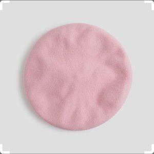 J. Crew Italian wool beret pink